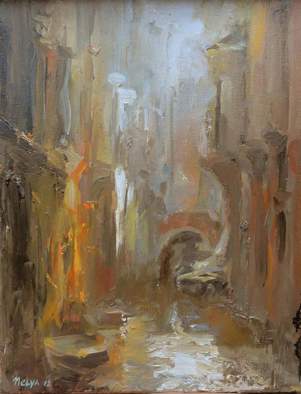 Art Poster featuring the painting Venice by Nelya Shenklyarska
