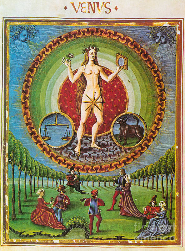 Mythology Poster featuring the photograph Venus Ruler Of Taurus And Libra by Photo Researchers