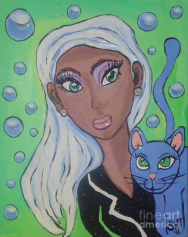 African American Art Poster featuring the painting Vera And Kira by Stephanie Temple