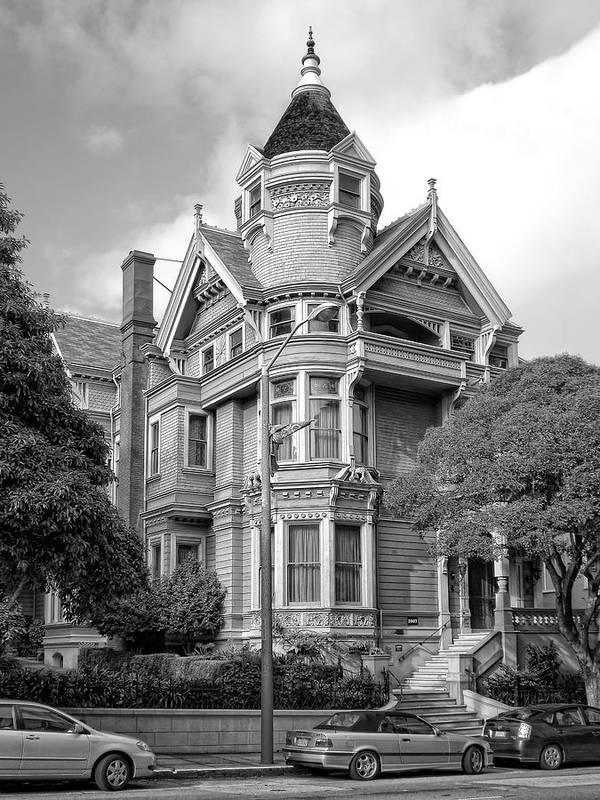 Victorian Poster featuring the photograph Victorian Haas Lilienthal House In San Francisco by Daniel Hagerman