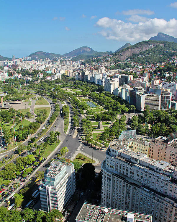 Vertical Poster featuring the photograph View Of Aterro Do Flamengo by Ruy Barbosa Pinto