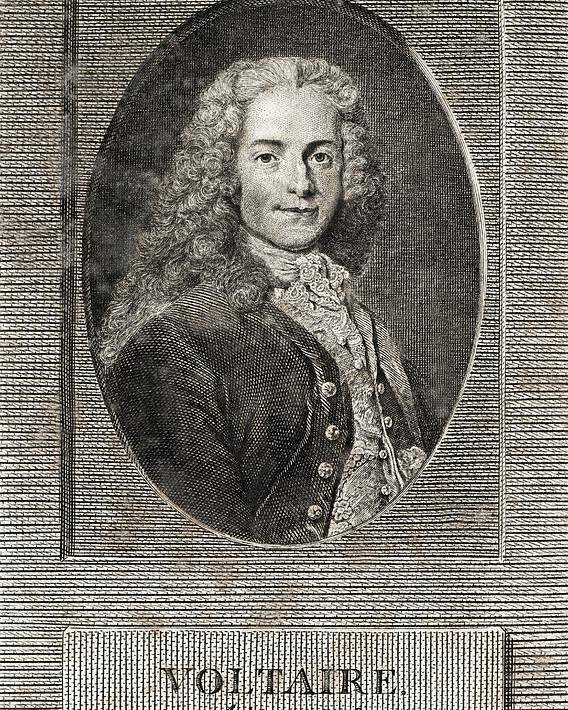 Voltaire Poster featuring the photograph Voltaire, French Author by Middle Temple Library