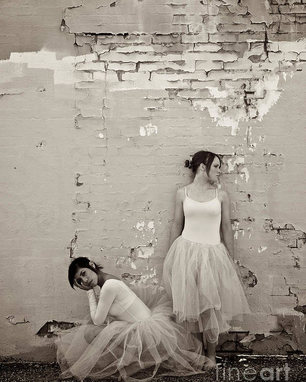 Dancers Poster featuring the photograph Waiting Together by Sherry Davis