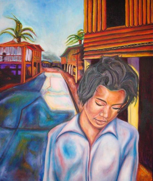 Portrait Poster featuring the painting Wang I Po by Kennedy Paizs