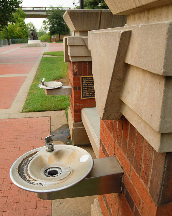 Water Poster featuring the photograph Water Fountains by Brian Parton