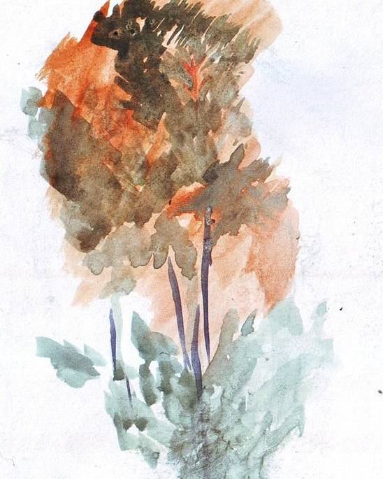 Watercolor Poster featuring the painting Watercolor Sketch by Kevin Russell