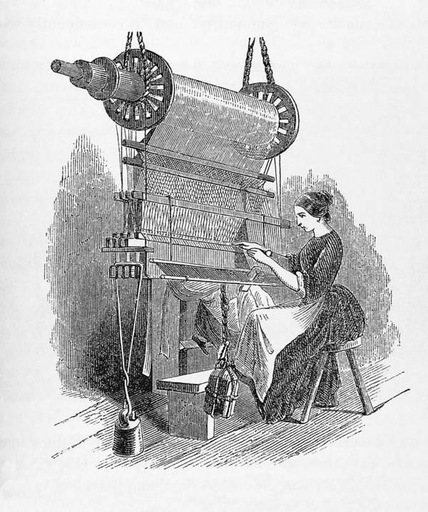 1849 Poster featuring the photograph Weaving Loom by �science, �industry & Business Librarynew York Public Library