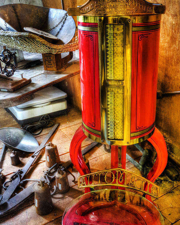 Lee Dos Santos Poster featuring the photograph Weigh Your Goods - General Store - Vintage - Nostalgia by Lee Dos Santos