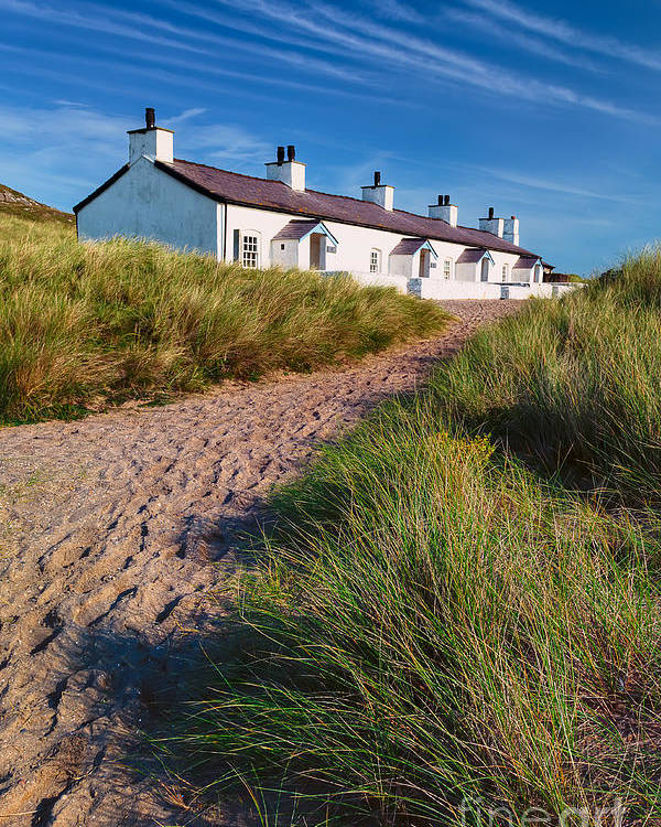 Anglesey Poster featuring the photograph Welsh Cottages by Adrian Evans