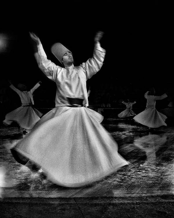 Mistic Poster featuring the photograph Whirling Dervish by Okan YILMAZ
