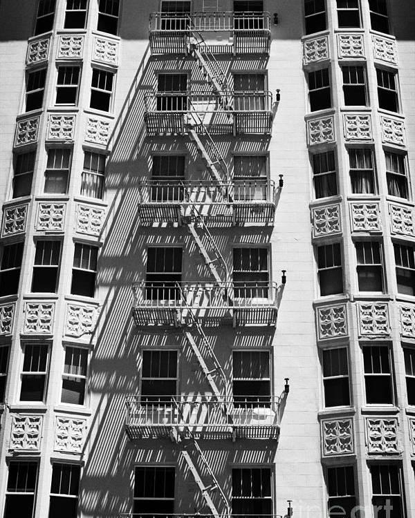 Street Scene Poster featuring the photograph White Building by Hideaki Sakurai