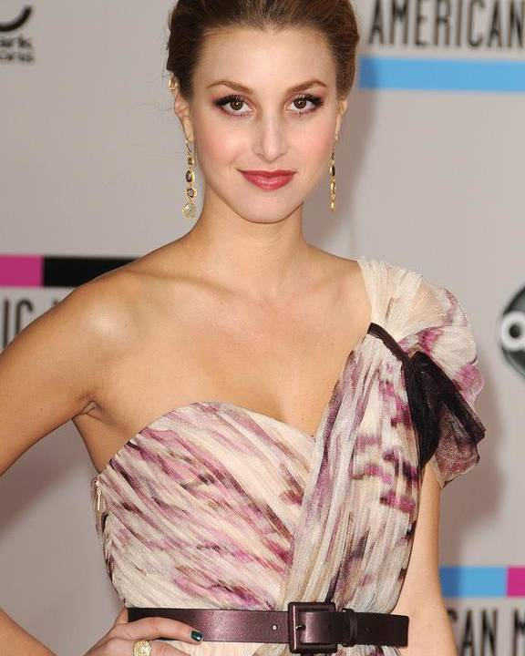 Whitney Port Poster featuring the photograph Whitney Port Wearing A Rafael Cennamo by Everett