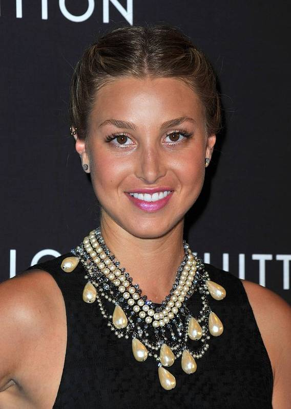 Whitney Port Poster featuring the photograph Whitney Port Wearing An Erickson Beamon by Everett