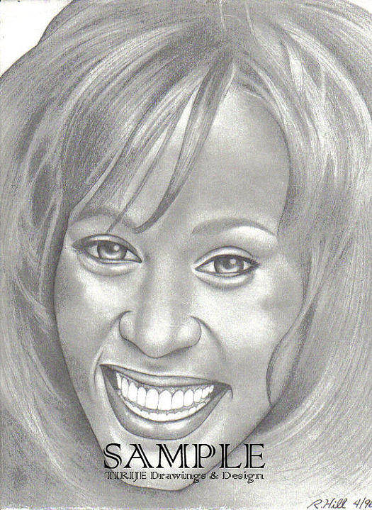 Portraits Poster featuring the drawing Whitney by Rick Hill
