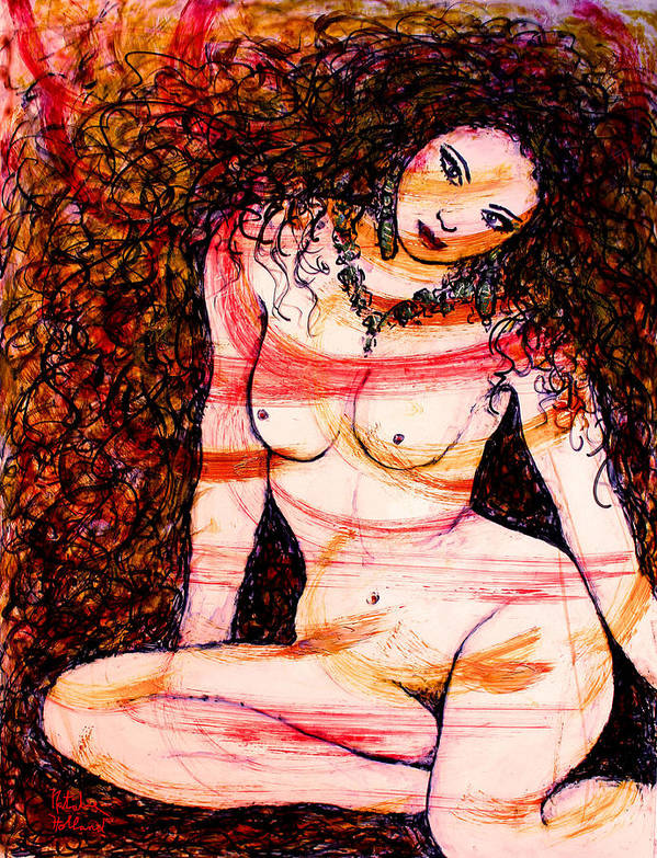 Nude Poster featuring the mixed media Wild And Beautiful by Natalie Holland