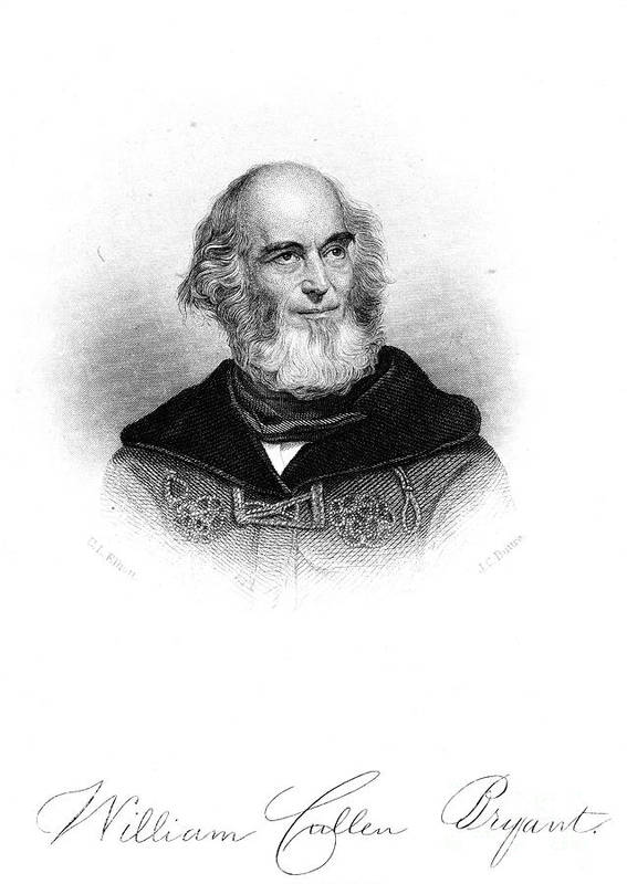 19th Century Poster featuring the photograph William Cullen Bryant by Granger