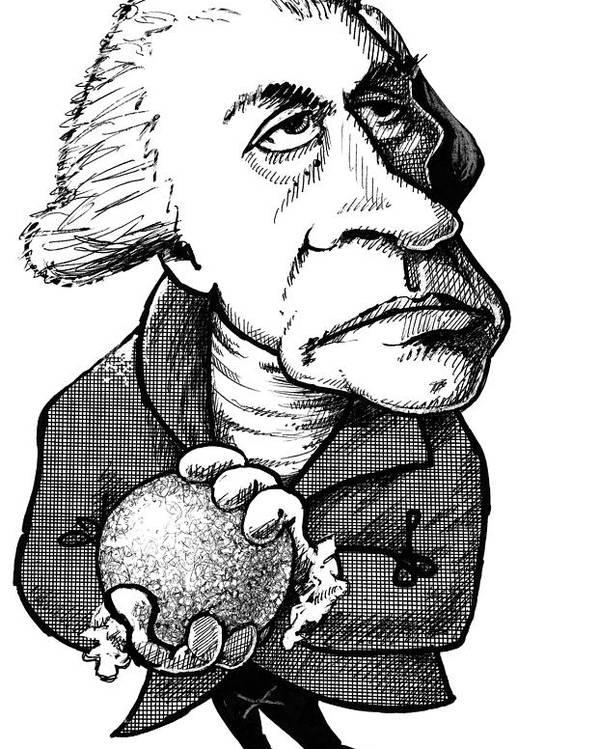 Uranus Poster featuring the photograph William Herschel, Caricature by Gary Brown
