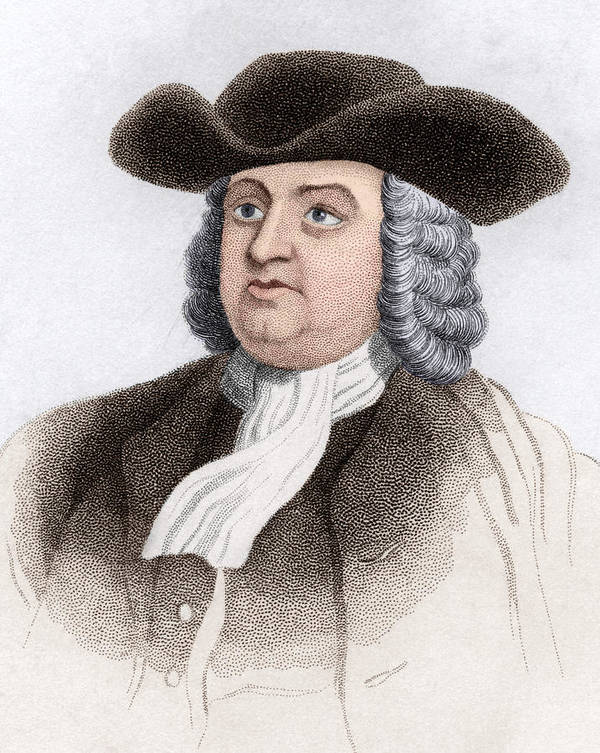 Penn Poster featuring the photograph William Penn, English Coloniser by Sheila Terry