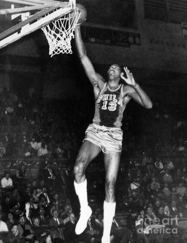 1962 Poster featuring the photograph Wilt Chamberlain (1936-1996) by Granger