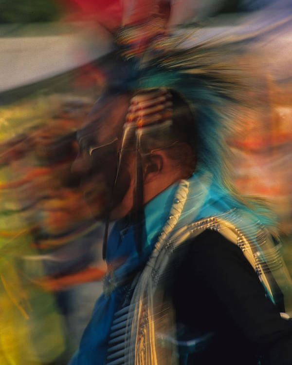 Native American Poster featuring the photograph Wind Dancer by Stan Williams