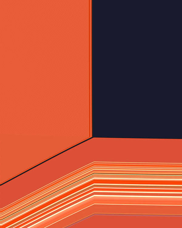 Tangerine Poster featuring the digital art Window Seat by Bonnie Bruno