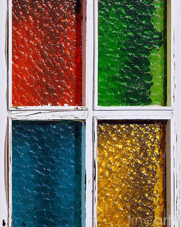 Abstract Poster featuring the photograph Windows by Carlos Caetano
