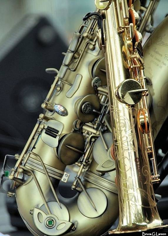 Saxophone Poster featuring the photograph Winds by Bruce Larson