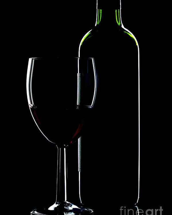 Wine Poster featuring the photograph Wine Bottle And Glass by Richard Thomas