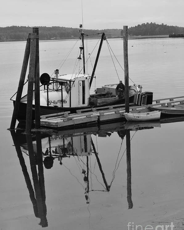 Wiscasset Poster featuring the photograph Wiscasset Reflection by Catherine Reusch Daley