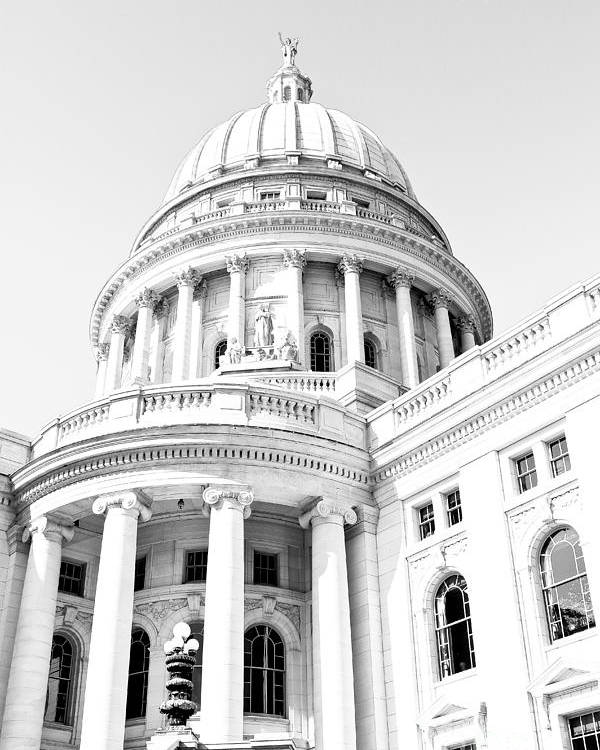 Capitol Poster featuring the photograph Wisconsin State Capitol by DJ Olbrys
