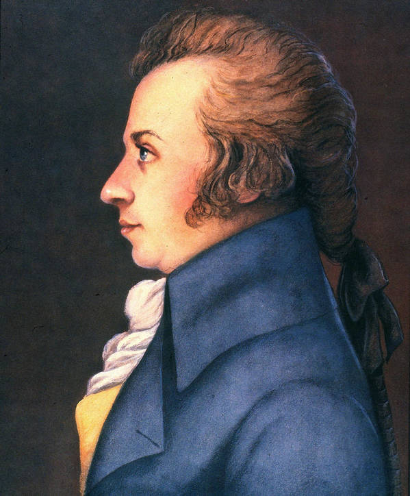 1789 Poster featuring the photograph Wolfgang Amadeus Mozart by Granger