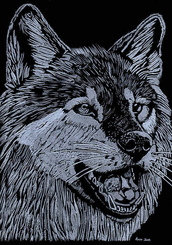 Wolf Poster featuring the sculpture Wolfie by Jim Ross