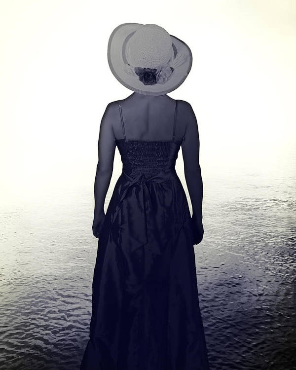 Female Poster featuring the photograph Woman At The Shore by Joana Kruse