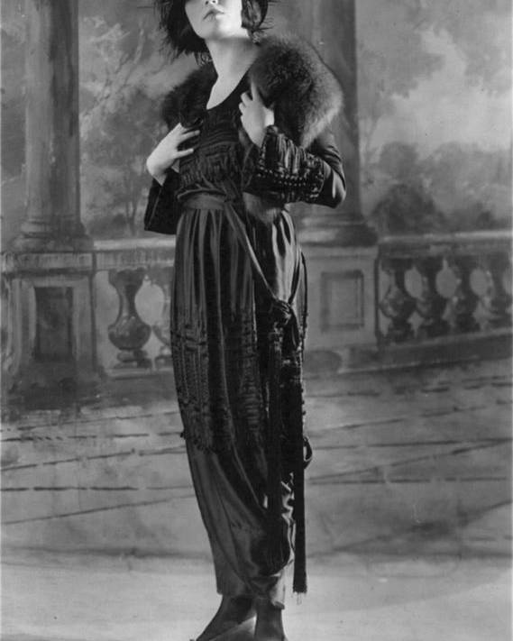 1910s Fashion Poster featuring the photograph Woman Modeling Dress, A Frock Of Moon by Everett