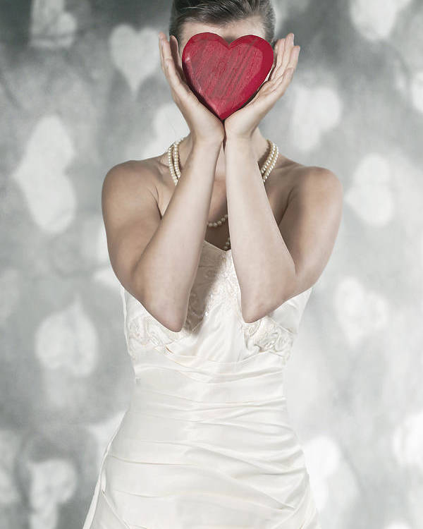 Female Poster featuring the photograph Woman With Heart by Joana Kruse