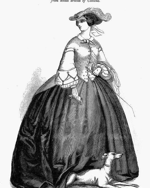 1857 Poster featuring the photograph Womens Fashion, 1857 by Granger