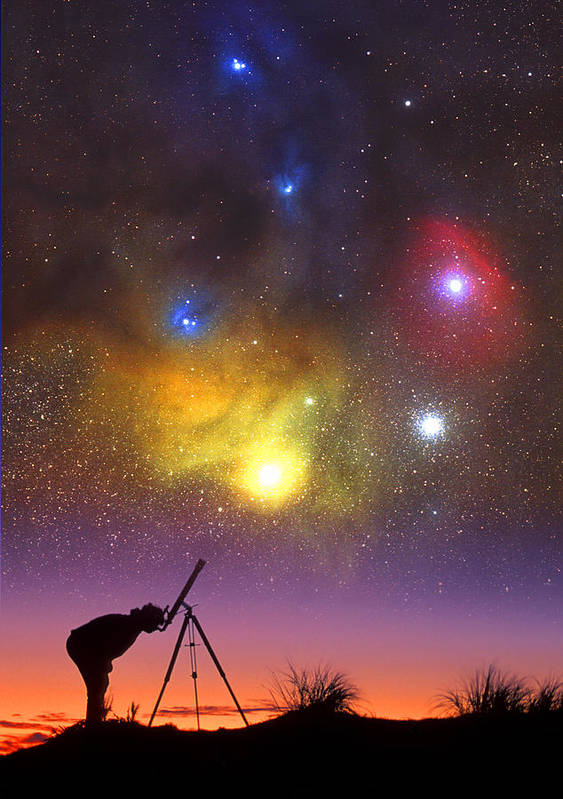 Telescope Poster featuring the photograph Wonder Of The Universe by Larry Landolfi
