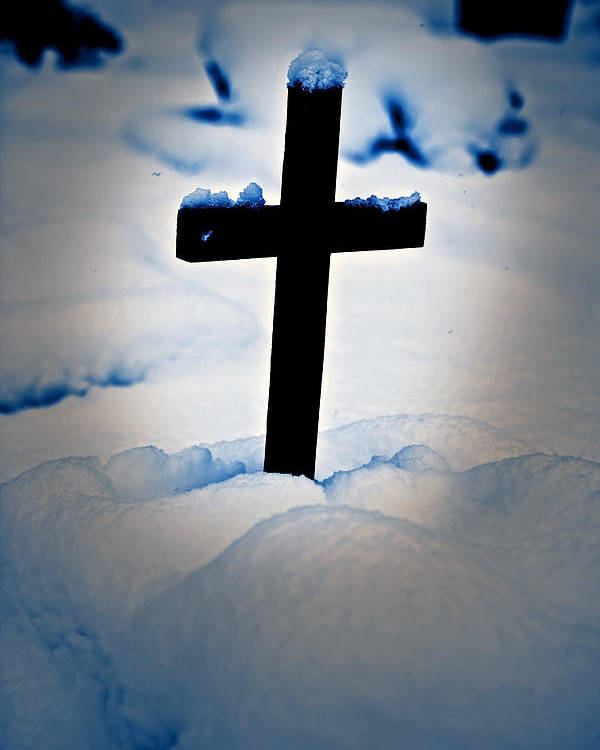 Cross Poster featuring the photograph Wooden Cross by Joana Kruse