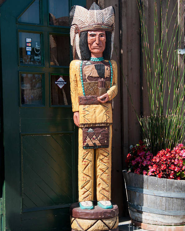 California Poster featuring the digital art Wooden Indian by Carol Ailles