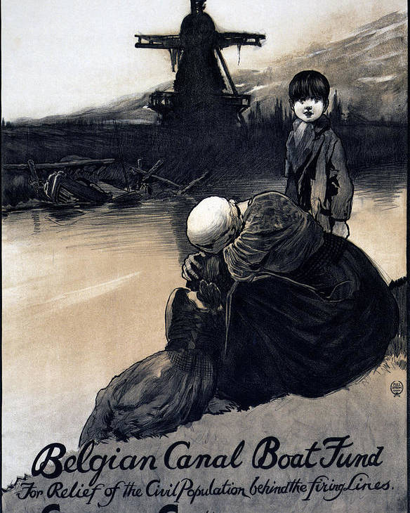 1910s Poster featuring the photograph World War I, Poster Showing A Mother by Everett