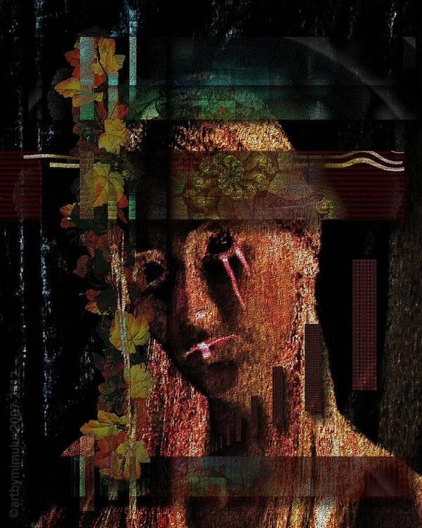 World Poster featuring the digital art Worlds Apart - Durch Welten Getrennt by Mimulux patricia no No