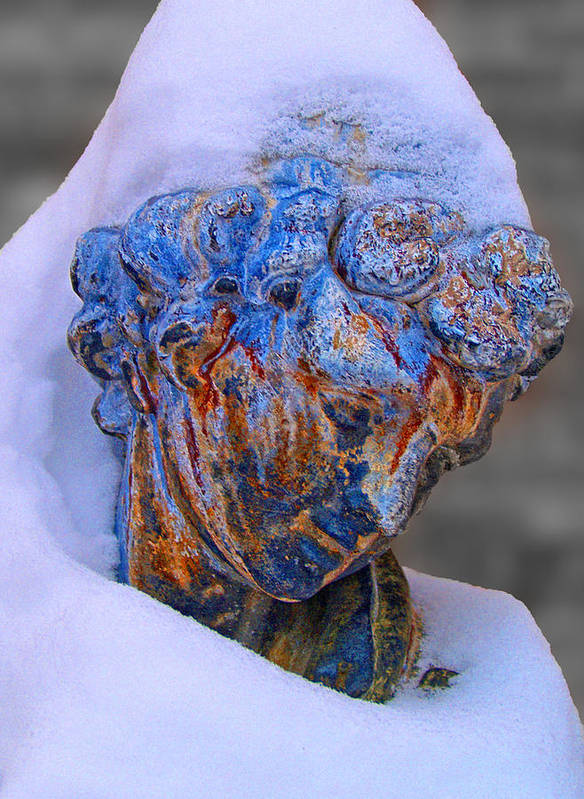 Statue Poster featuring the photograph Wraped In Snow by Brian Mollenkopf