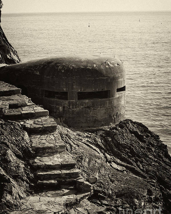 Wwii Poster featuring the photograph Wwii Pill Box by Leslie Leda