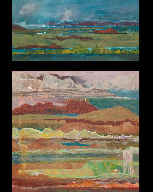 Abstract Landscape Poster featuring the painting Xanadu by Jillian Goldberg