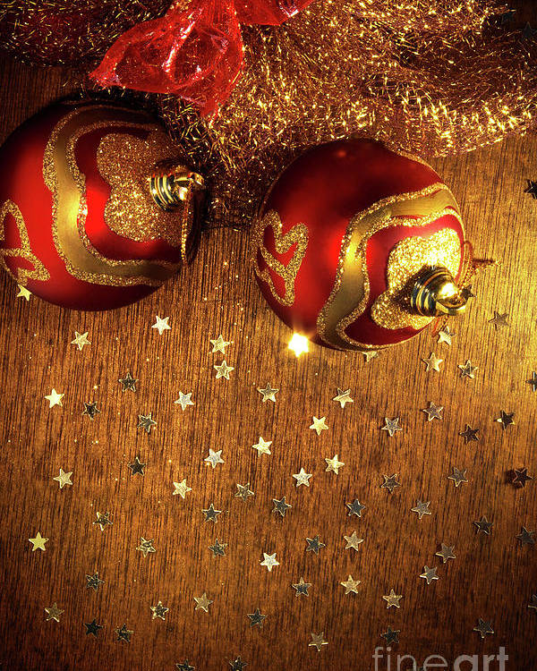 Abstract Poster featuring the photograph Xmas Balls by Carlos Caetano
