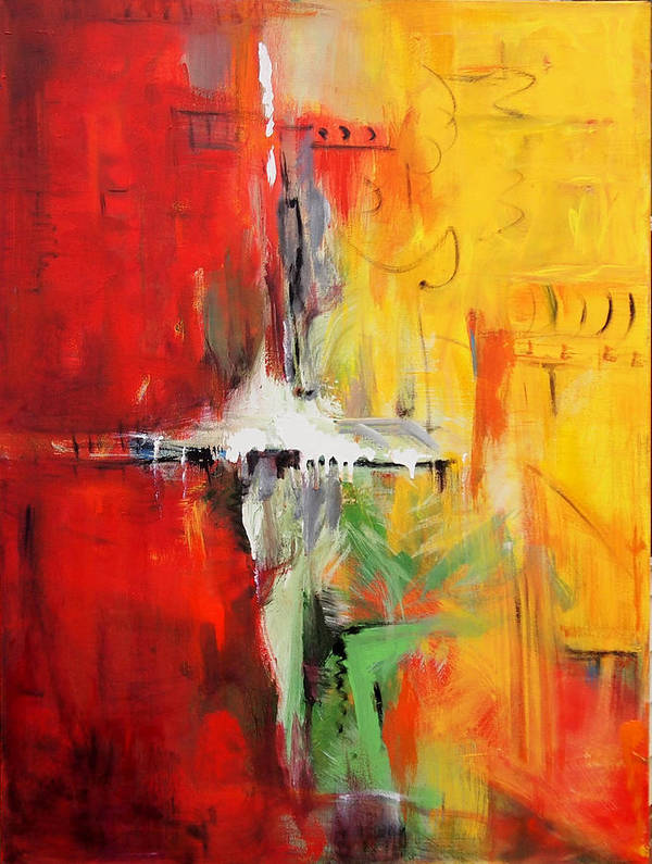 Venezuela Paintings Paintings Poster featuring the painting Yellow by Marina R Burch