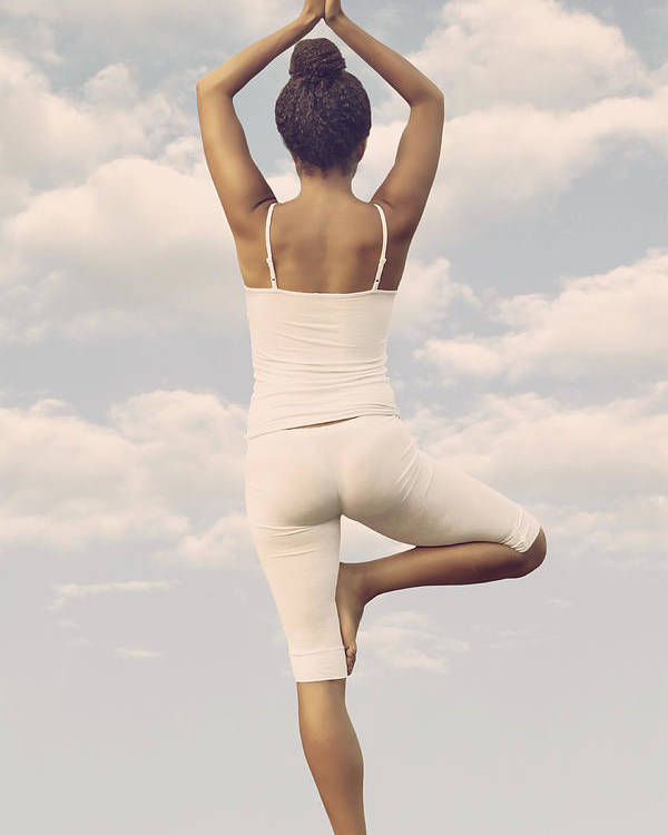 Female Poster featuring the photograph Yoga by Joana Kruse