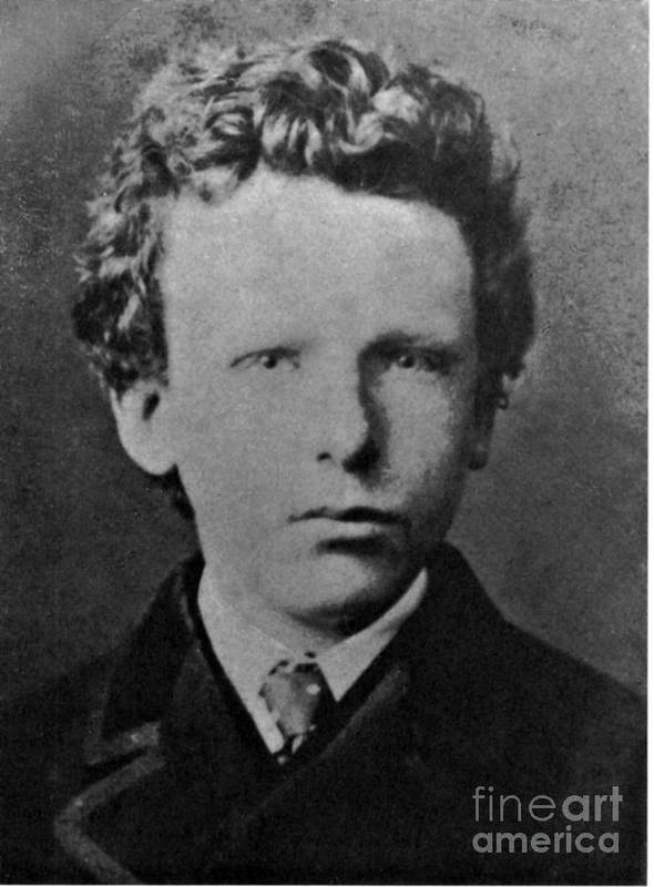 History Poster Featuring The Photograph Young Vincent Van Gogh Dutch Painter By Photo Researchers
