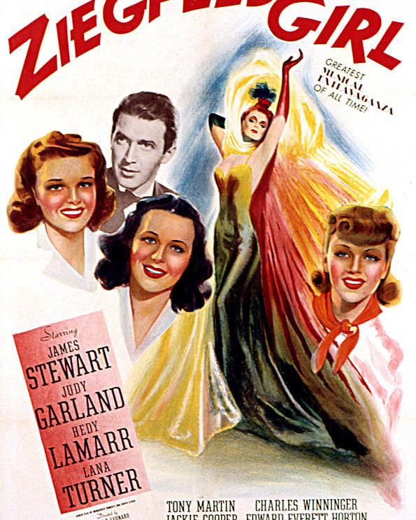 1940s Movies Poster featuring the photograph Ziegfeld Girl, Judy Garland, James by Everett