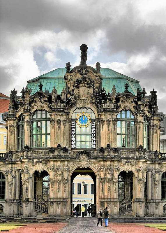 Carillon Poster featuring the photograph Zwinger Dresden - Carillon Pavilion - Caution Fragile by Christine Till